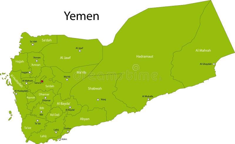 Mapa Jemen royalty ilustracja