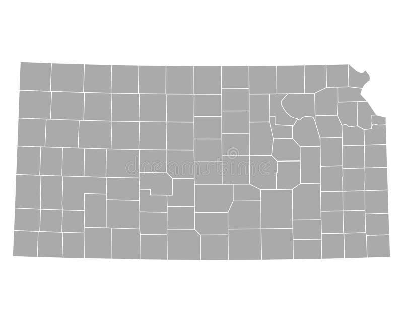 Mapa Kansas ilustracja wektor