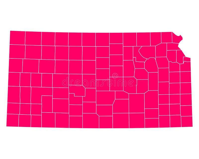 Mapa Kansas royalty ilustracja