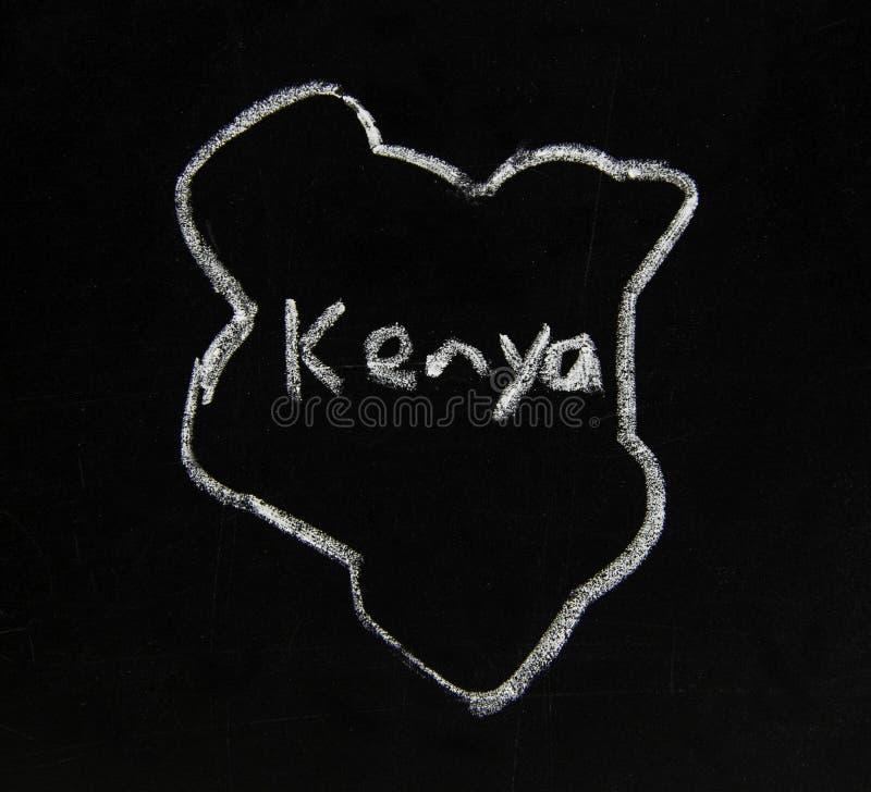 Mapa Kenii w Afryce Wschodniej zdjęcia stock