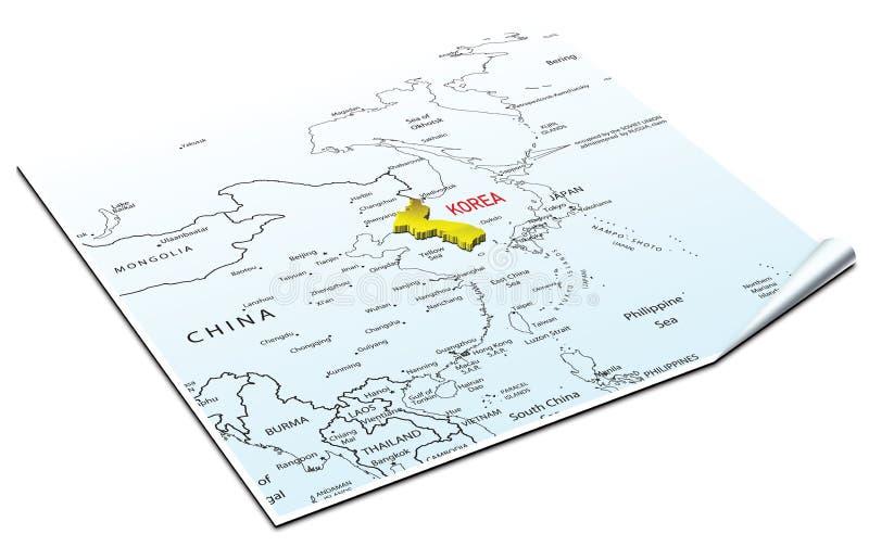 mapa korei zdjęcie stock