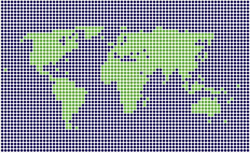 mapa kropkowany świat ilustracji