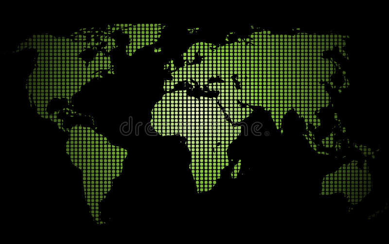 mapa kropkowany świat ilustracja wektor