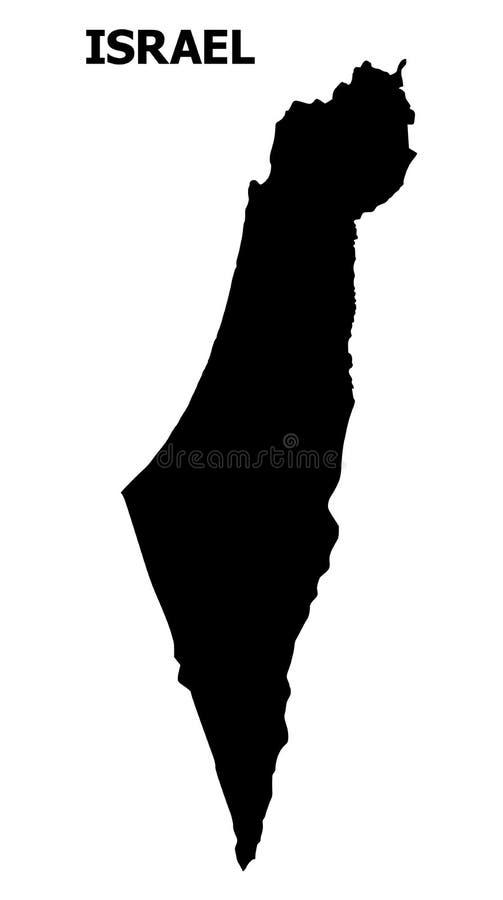 Mapa liso do vetor de Israel com nome ilustração do vetor