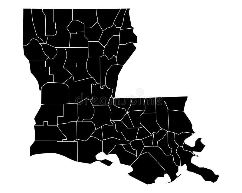 Mapa Luizjana ilustracji
