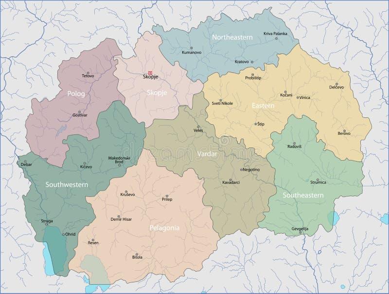 mapa macedonii ilustracji