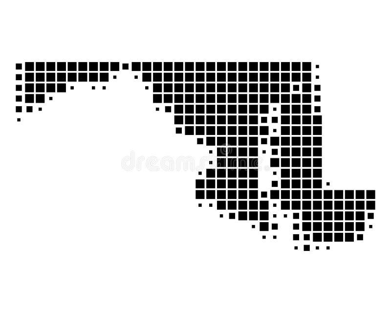 Mapa Maryland ilustracji