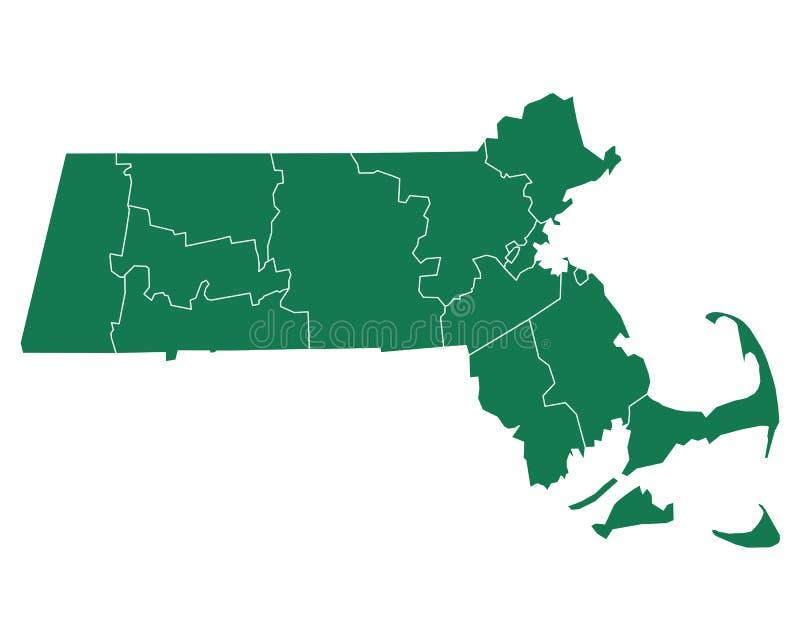 Mapa Massachusetts ilustracja wektor