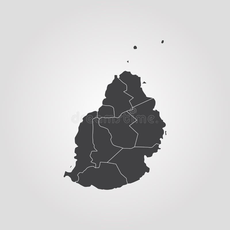 Mapa Mauritius ilustracja wektor