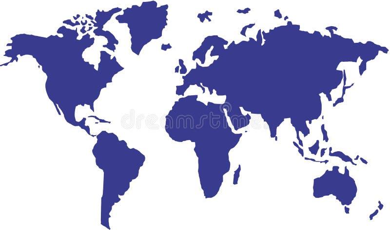 mapa międzynarodowej royalty ilustracja