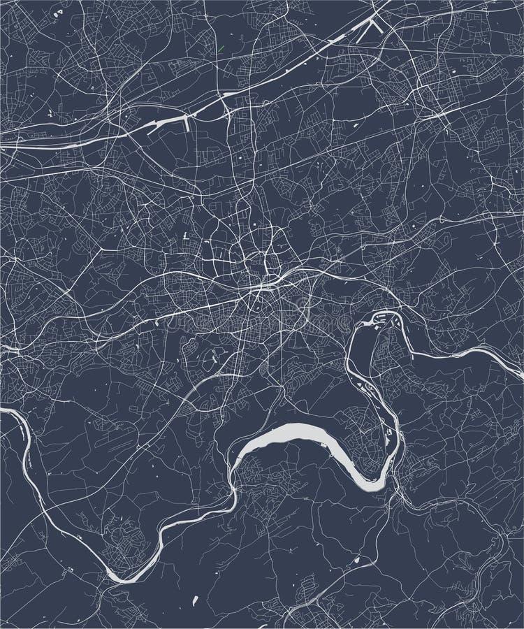Niemiec essen mapa Mapa •