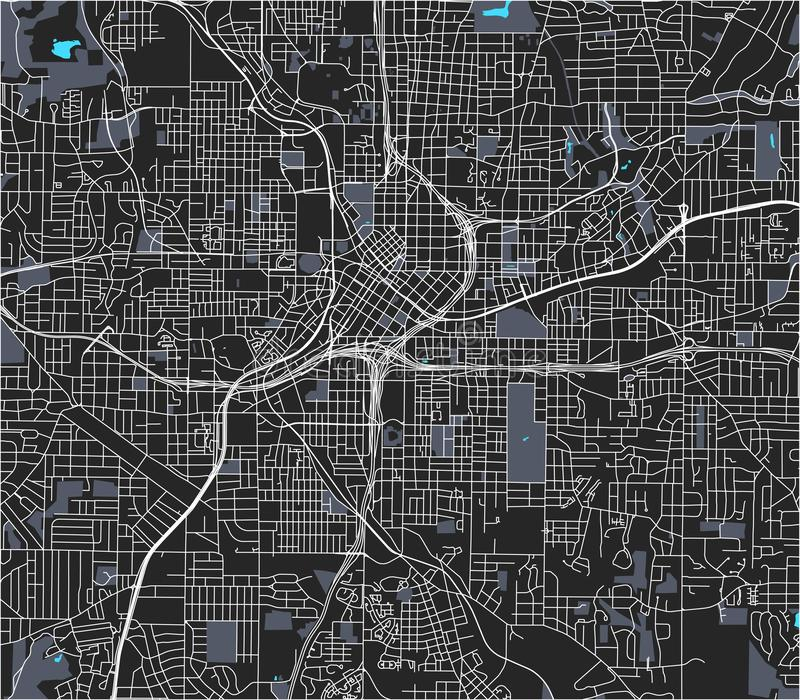 Mapa miasto Atlanta, usa zdjęcie stock