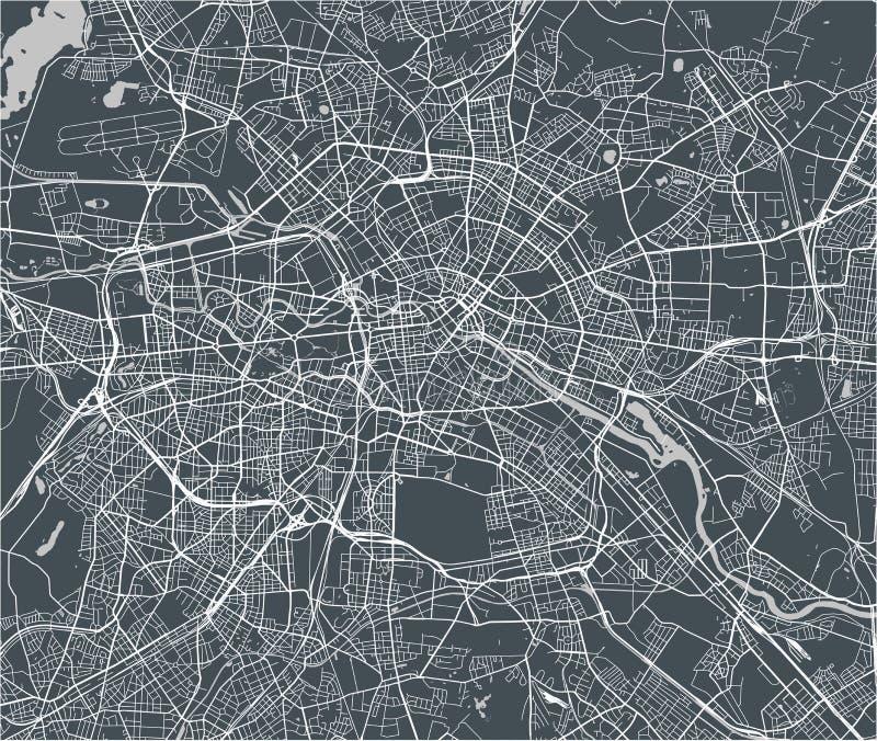 Mapa miasto Berlin, Niemcy ilustracji