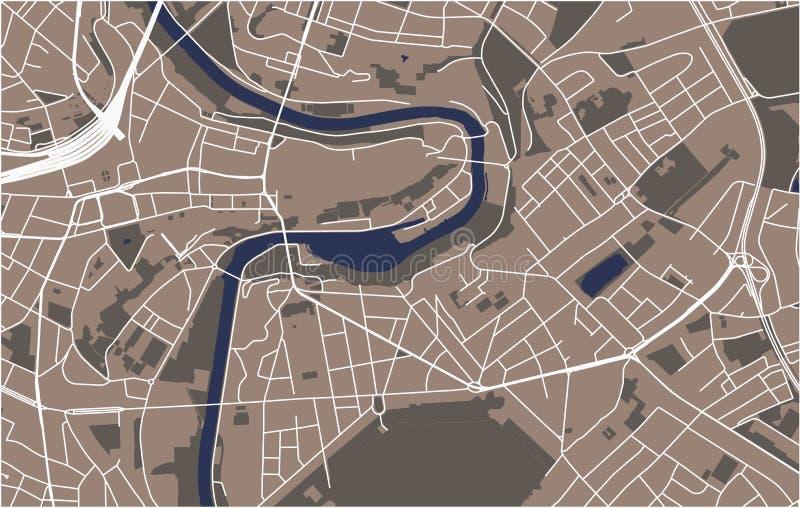 Mapa miasto Bern, Szwajcaria ilustracji