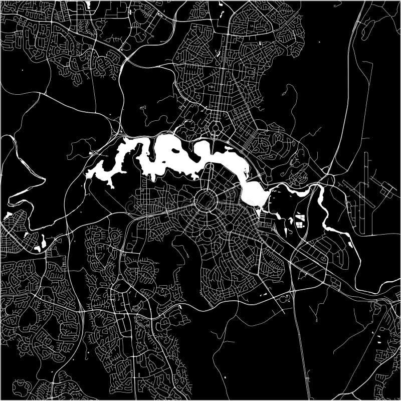 Mapa miasto Canberra, Australijskiego kapitału terytorium, Australia ilustracja wektor