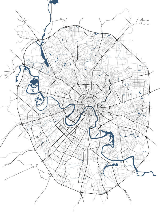 Mapa miasto Moskwa, Rosja ilustracja wektor