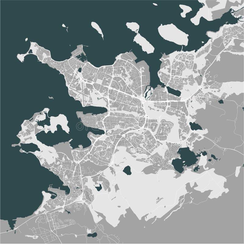 Mapa miasto Reykjavik, Kapitałowy region, Iceland ilustracji
