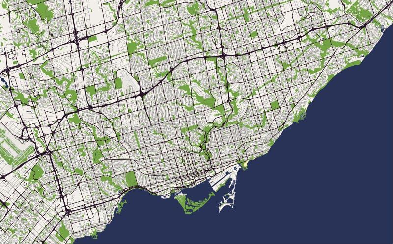 Mapa miasto Toronto, Kanada royalty ilustracja