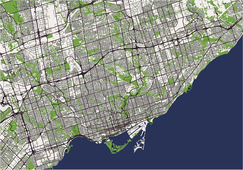 Mapa miasto Toronto, Kanada ilustracji