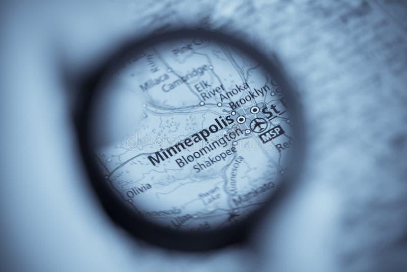 mapa Minneapolis obraz royalty free