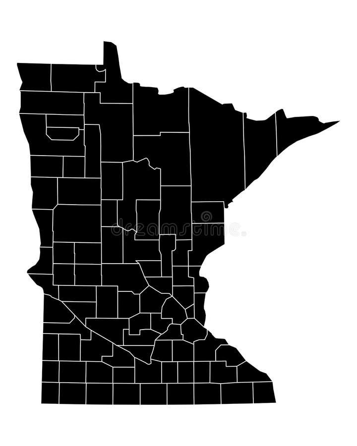mapa Minnesota ilustracji