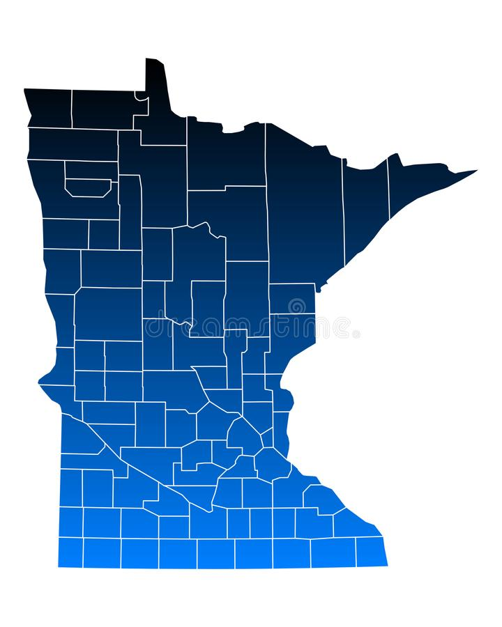 mapa Minnesota ilustracja wektor