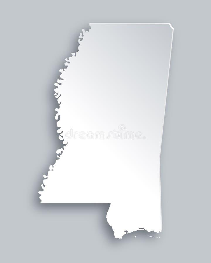Mapa Mississippi ilustracji