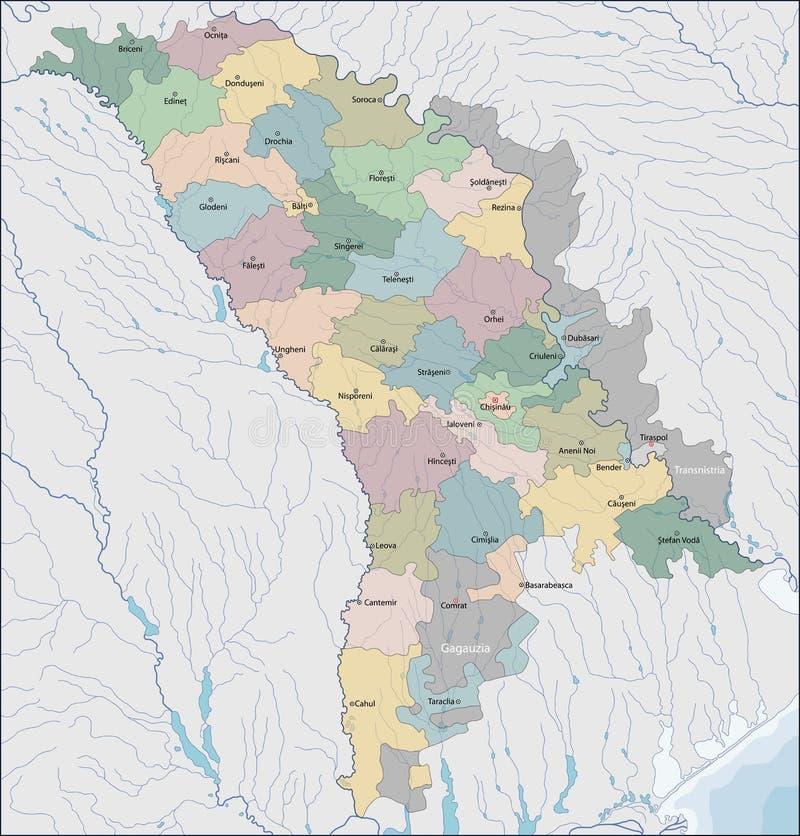 mapa Mołdowa royalty ilustracja
