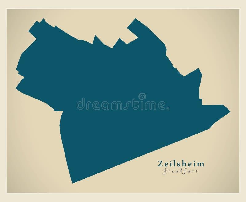Mapa moderno del distrito - Francfort Zeilsheim Alemania libre illustration