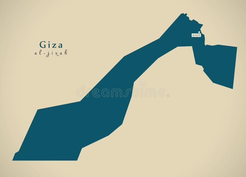 Mapa moderno - Giza EG. ilustración del vector
