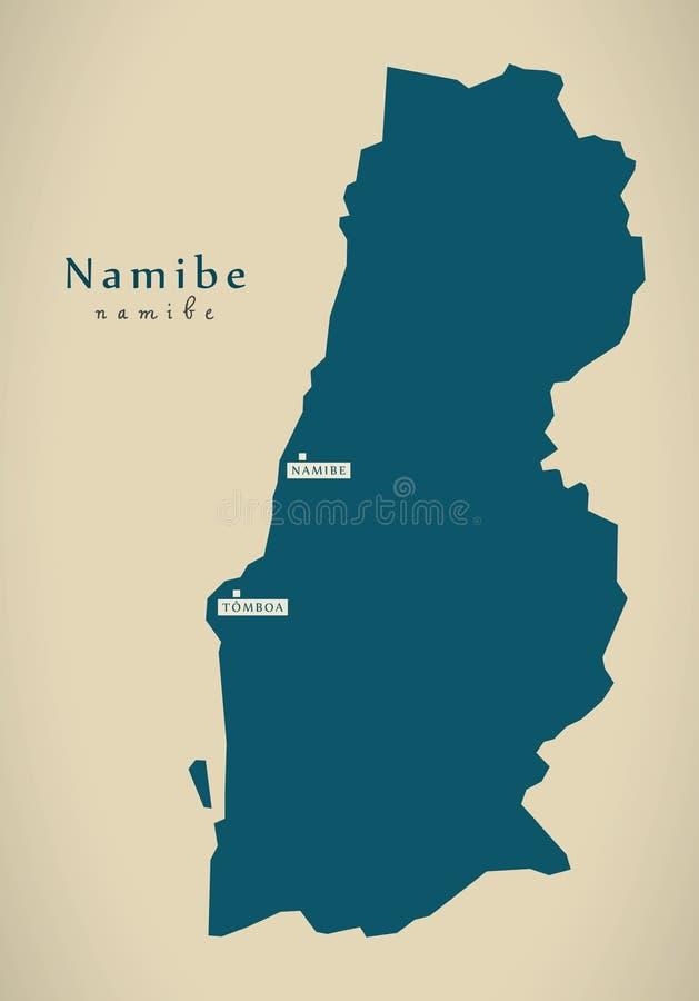 Mapa moderno - Namibe AO ilustração stock