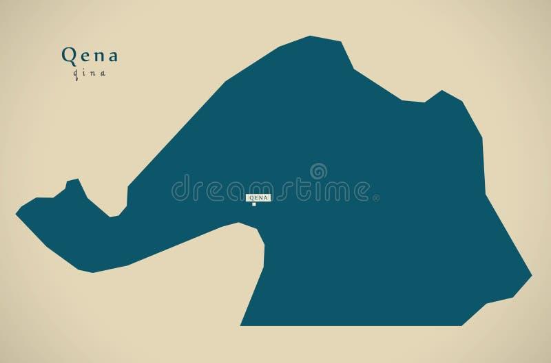 Mapa moderno - Qena EG. ilustración del vector
