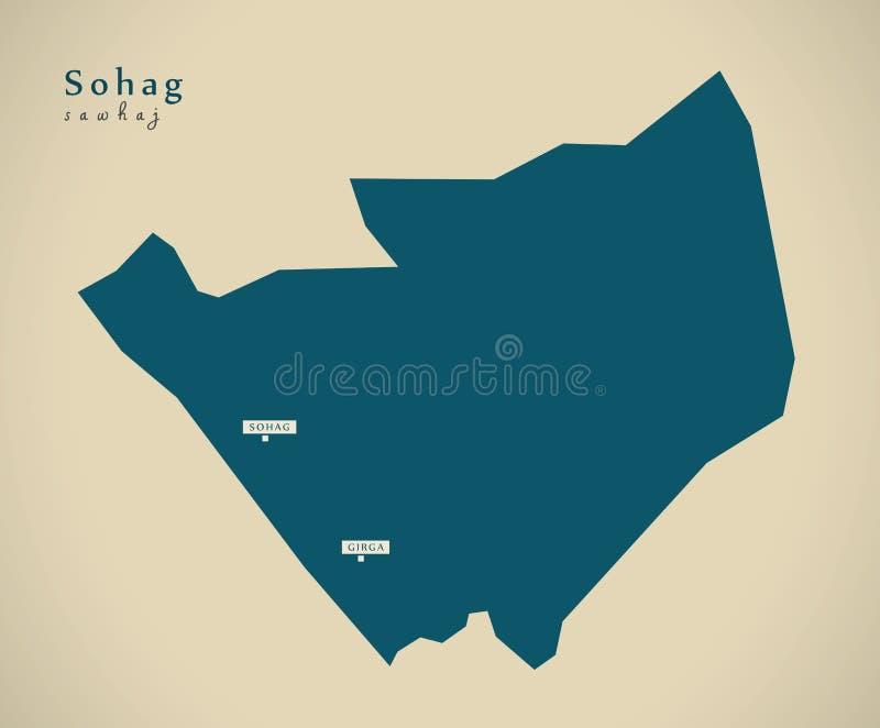 Mapa moderno - Sohag EG. libre illustration