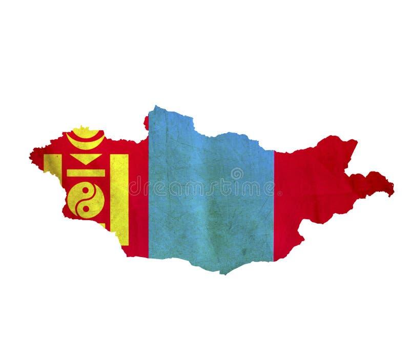 Mapa Mongolia odizolowywał obrazy royalty free