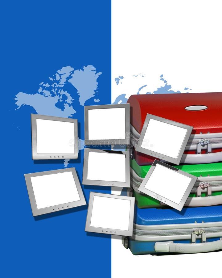 mapa monitorów bagaż ilustracji