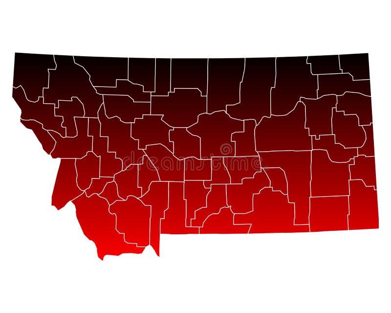 Mapa Montana ilustracja wektor