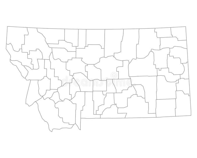 Mapa Montana royalty ilustracja
