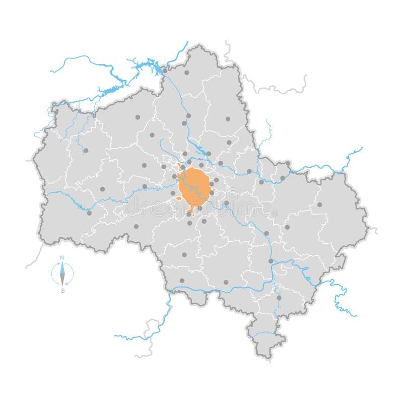 Mapa Moskwa region ilustracji