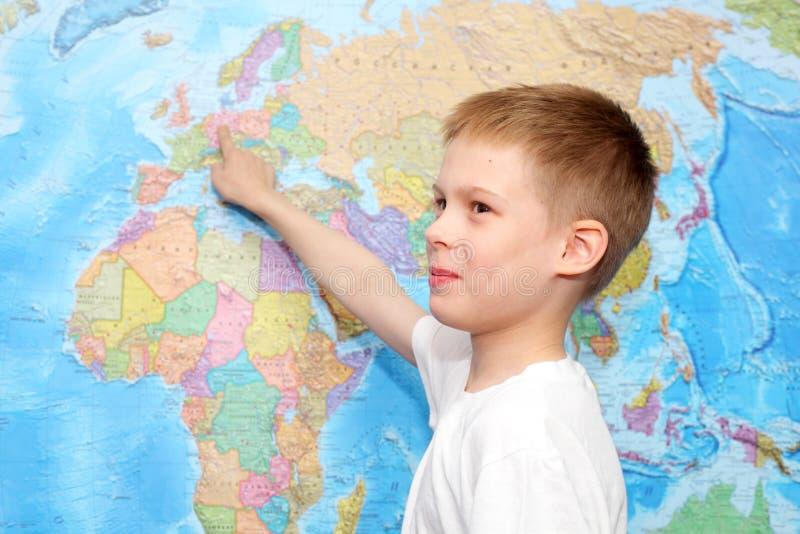 Mapa mural foto de archivo libre de regalías