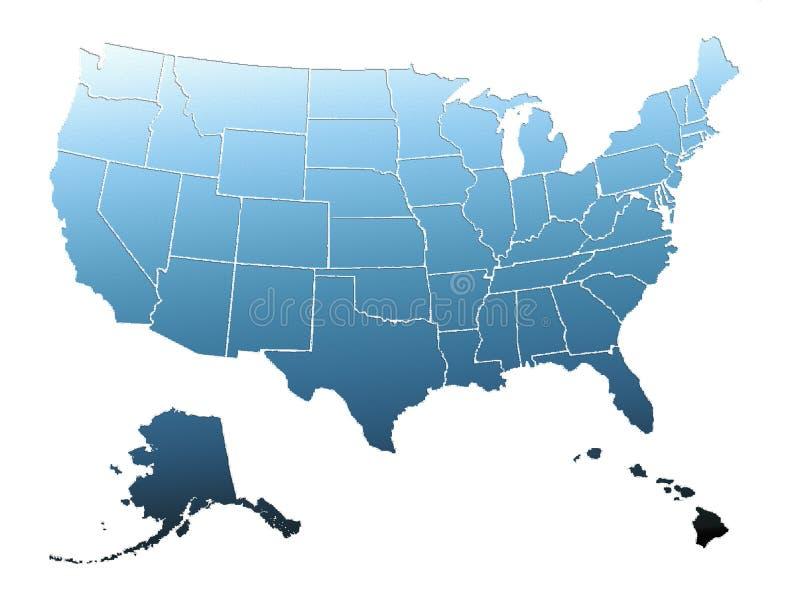mapa nam florydzie Miami royalty ilustracja