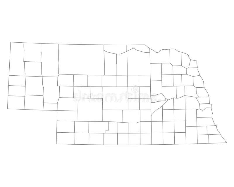 Mapa Nebraska ilustracja wektor