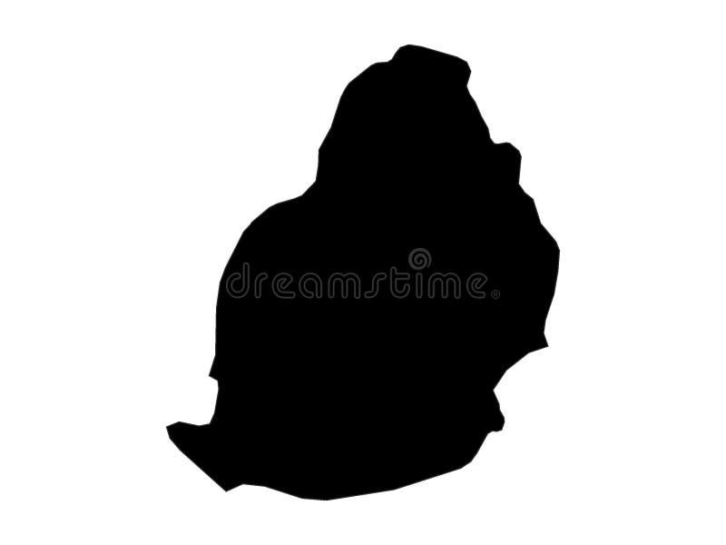 Mapa negro de Mauricio stock de ilustración