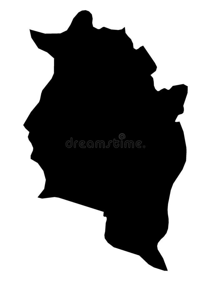 Mapa negro del estado austríaco de Vorarlberg libre illustration