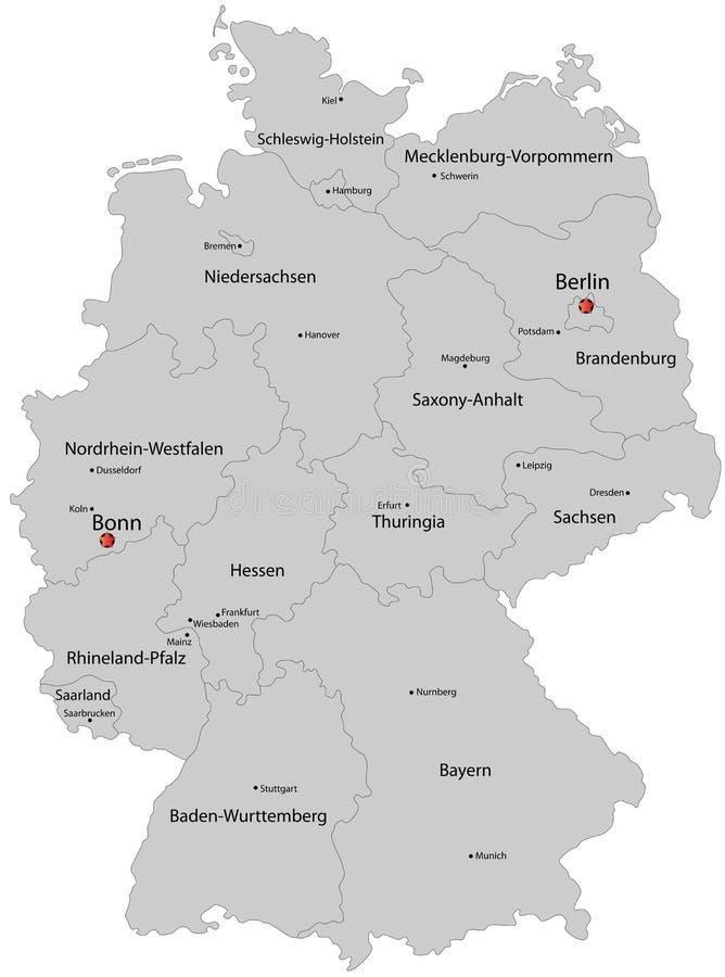 Mapa Niemcy ilustracji