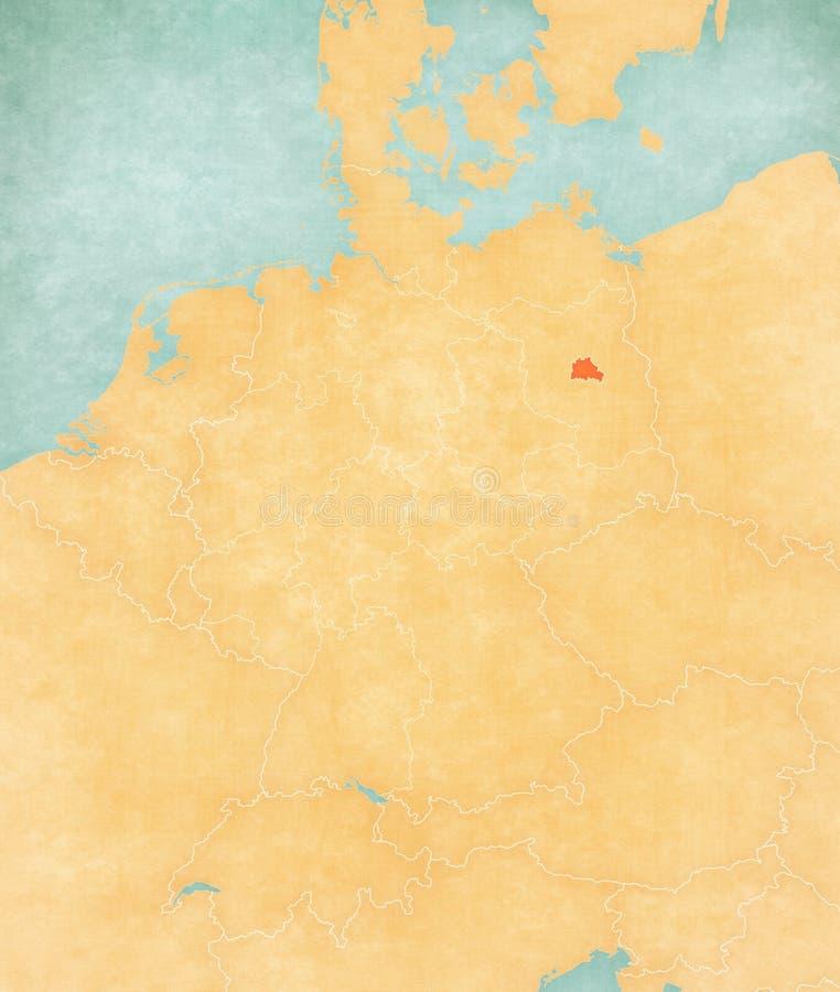 Mapa Niemcy, Berlin - ilustracja wektor