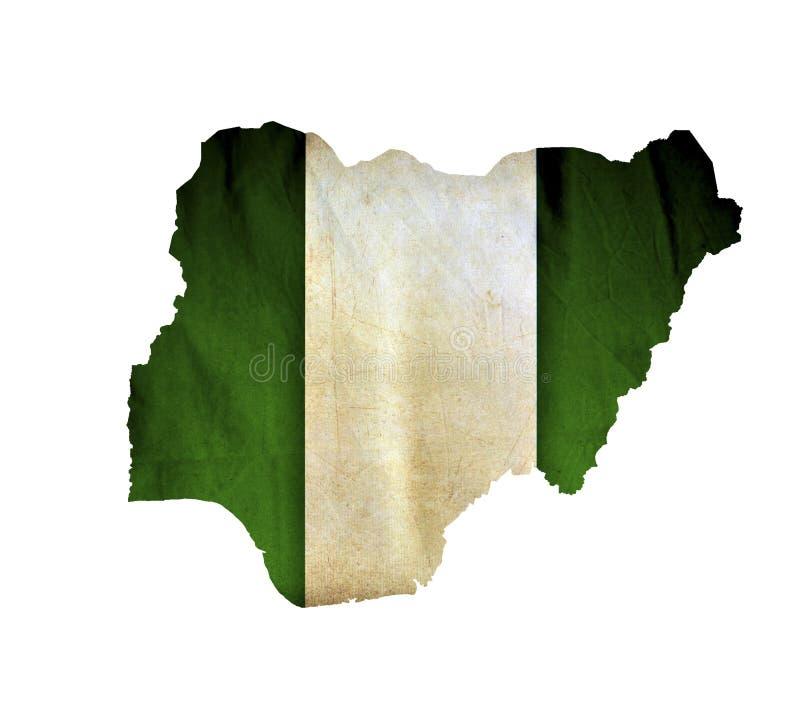 Mapa Nigeria odizolowywał zdjęcia royalty free