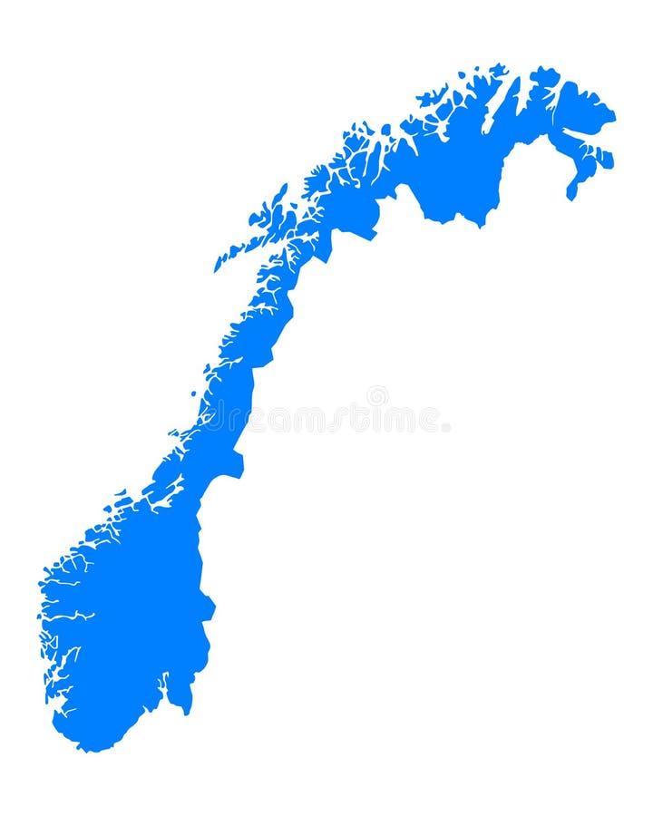 mapa Norway ilustracji