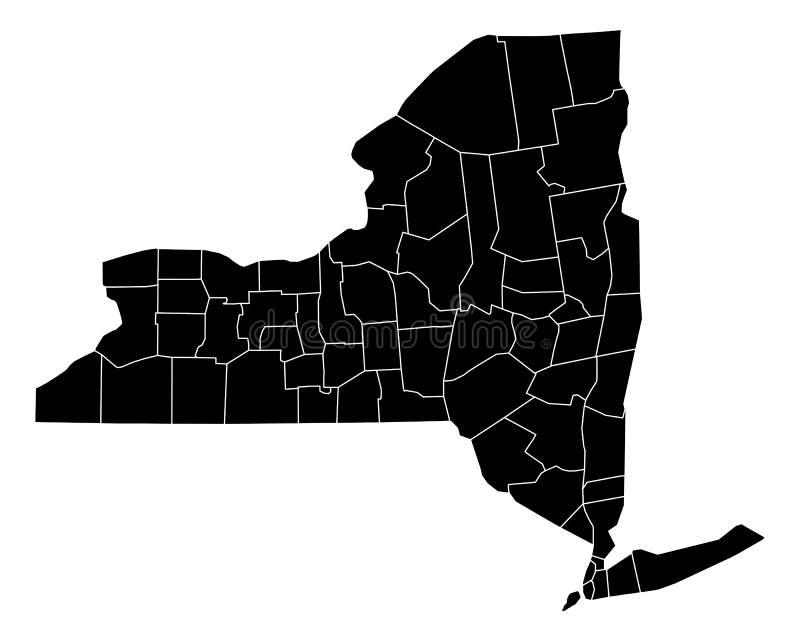 mapa nowego Jorku ilustracja wektor