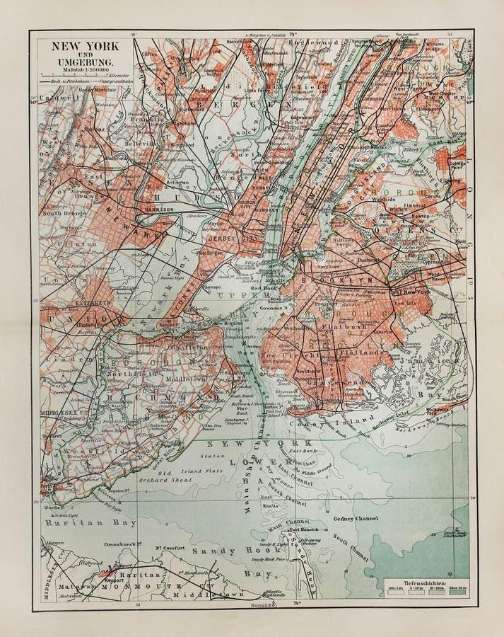 mapa nowy stary York zdjęcie stock