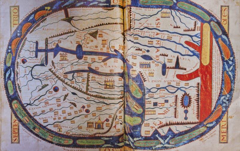 Mapa od przecinającego Beatus, 1086 zdjęcia royalty free
